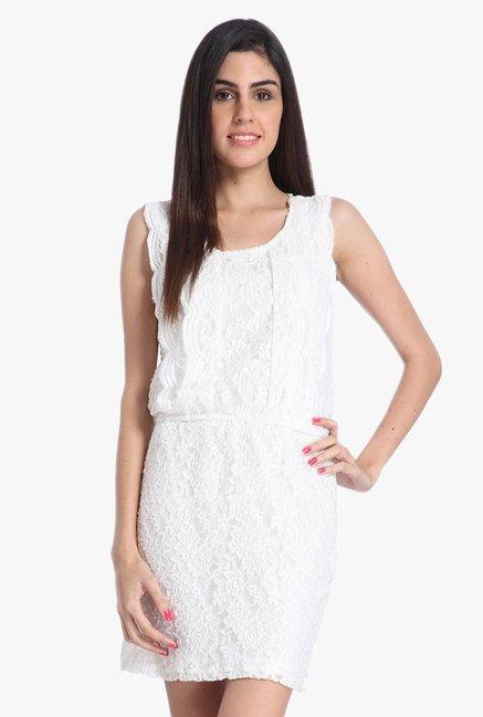 d1e239f76675 Buy Only White Lace Mini Dress for Women Online   Tata CLiQ