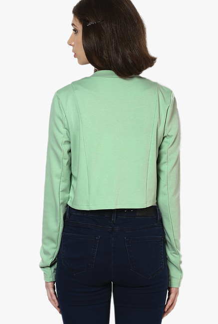 Vero Moda Green Textured Shrug