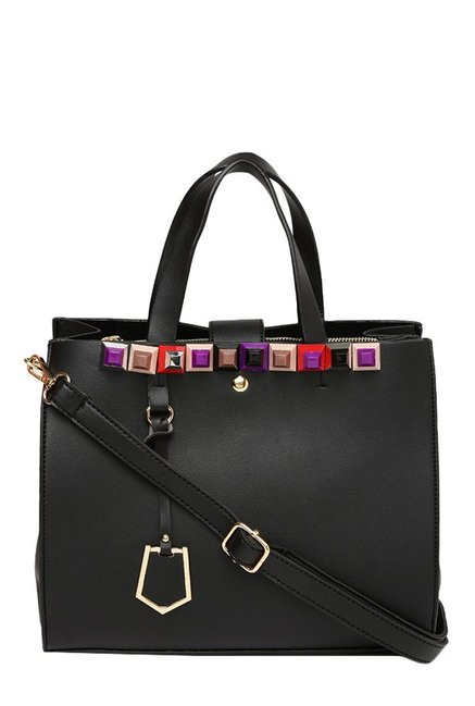 Toniq Roma Black Embellished Handbag