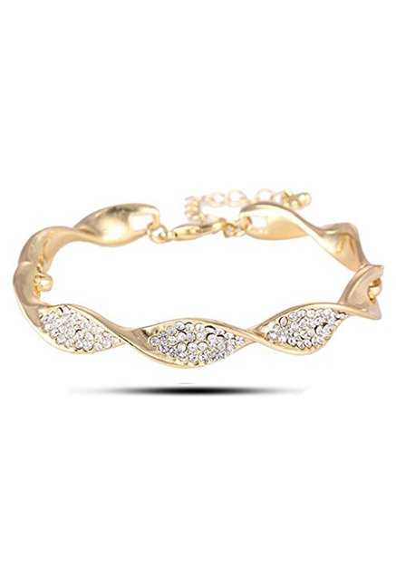 297e96585c5 Buy YouBella Yellow Gold Plated Gracias Bangle Bracelet for Women ...