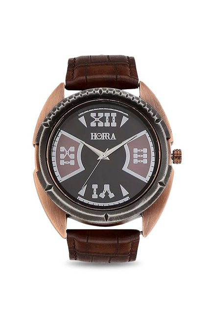 Horra HR717MLBKBR80 Analog Watch for Men