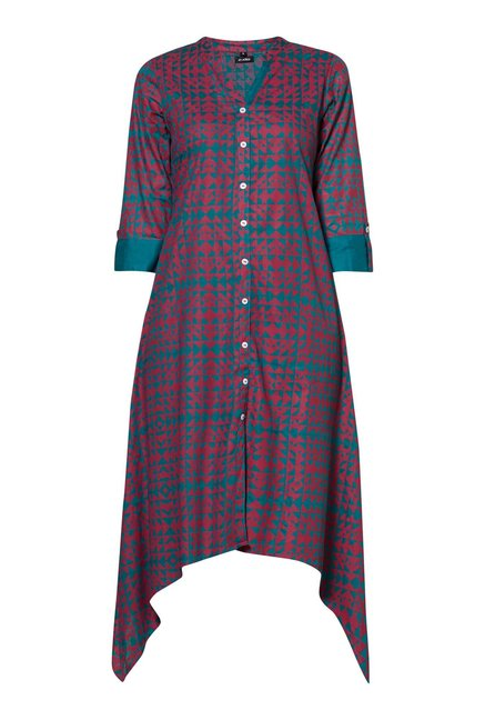 Zudio Teal Slim Fit Kurta