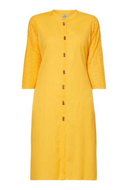 Zudio Yellow Kurta