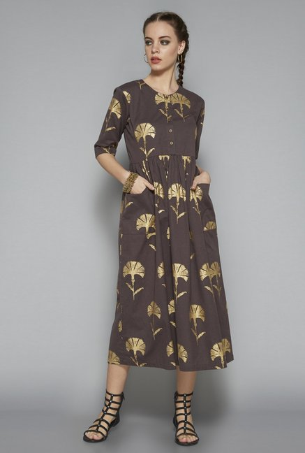 4c3371836c54 Buy Bombay Paisley by Westside Brown Dress for Women Online @ Tata CLiQ