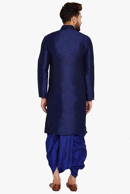 7e697bf4d82f Buy Sojanya Royal Blue Mandarin Collar Kurta Set for Men Online ...