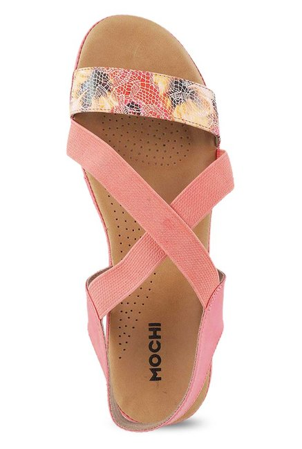 Mochi Pink Cross Strap Wedges