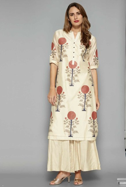 Zuba by Westside Off White Kurta