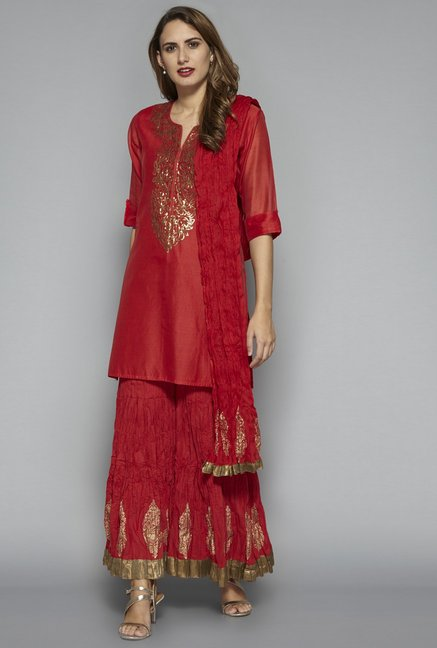 Vark by Westside Red Ethnic Set