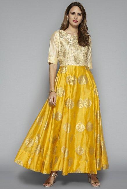 12cb0f89c0e2 Buy Vark by Westside Yellow Ethnic Maxi Dress for Women Online ...