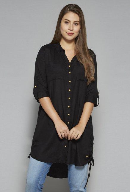 00348bef6 Buy Gia by Westside Black Olga Blouse for Women Online   Tata CLiQ