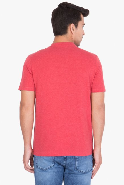 Red Tape Red Half Sleeves Henley T-Shirt