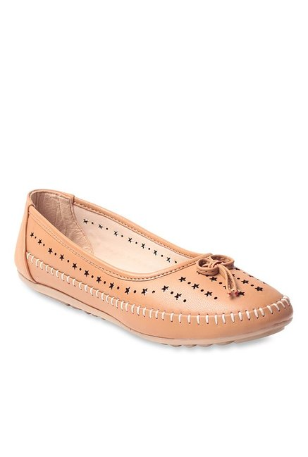 Lishabee by MSC Beige Flat Ballets