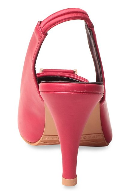 Lishabee by MSC Pink Sling Back Stilettos