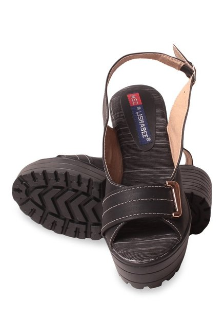 Lishabee by MSC Black Back Strap Sandals