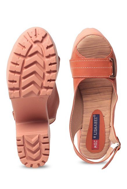 Lishabee by MSC Rust Back Strap Sandals