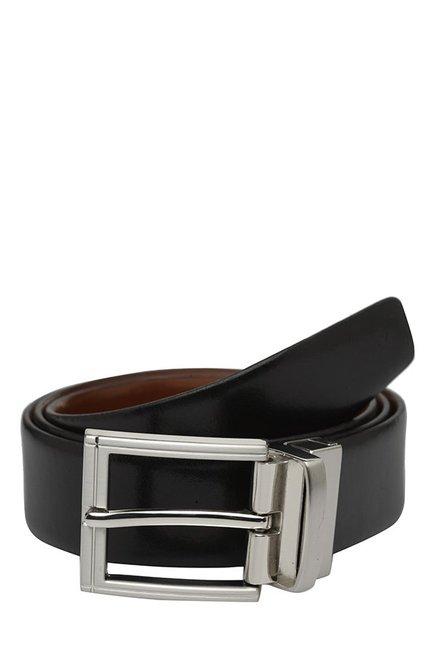 Teakwood Leathers Black & Brown Solid Reversible Belt