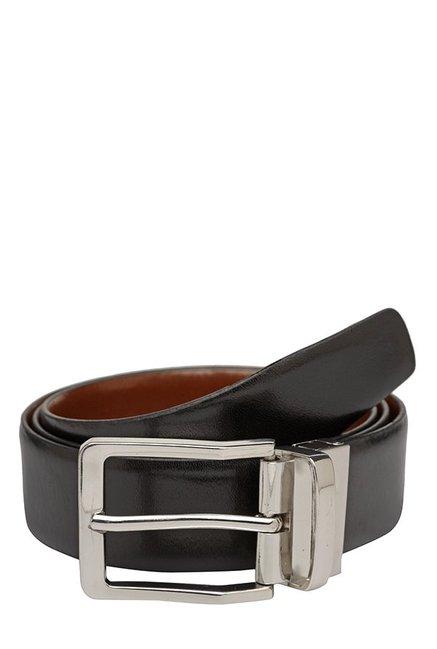 Teakwood Leathers Black & Tan Solid Reversible Belt