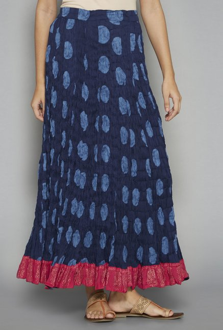 Utsa by Westside Indigo Pure Cotton Skirt
