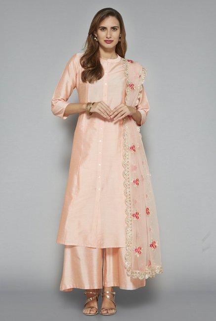 bbbd318cb3 Buy Vark by Westside Peach Ethnic Set for Women Online @ Tata CLiQ