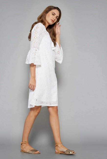 LOV by Westside White Gazelle Dress