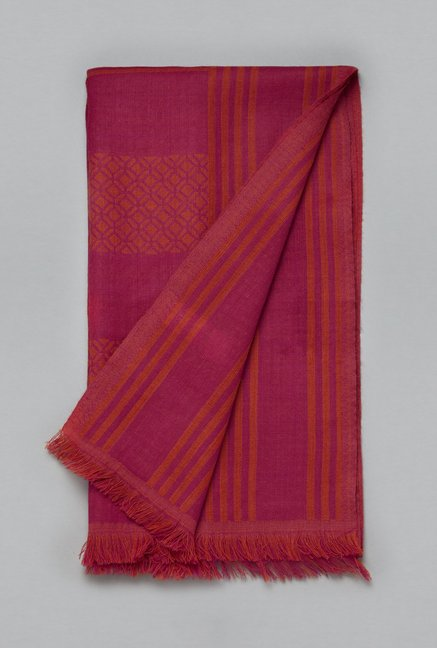Utsa by Westside Pink Pure Wool Stole