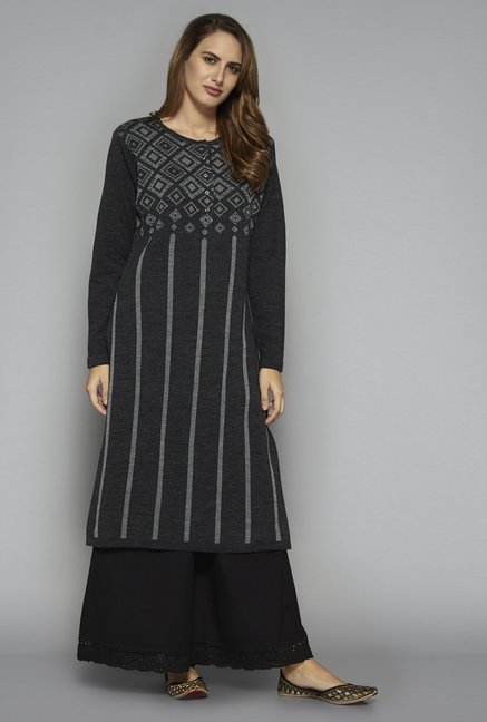 Utsa by Westside Grey Knit Kurta