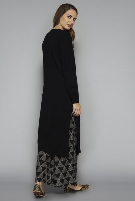 Utsa by Westside Black Knit Kurta