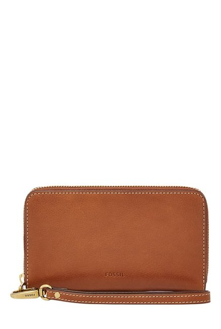 Fossil Brown Solid Leather RFID Wallet