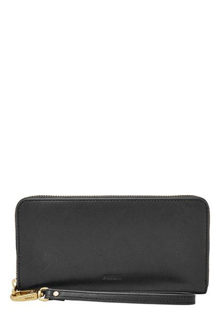Fossil Black Solid Leather RFID Wallet