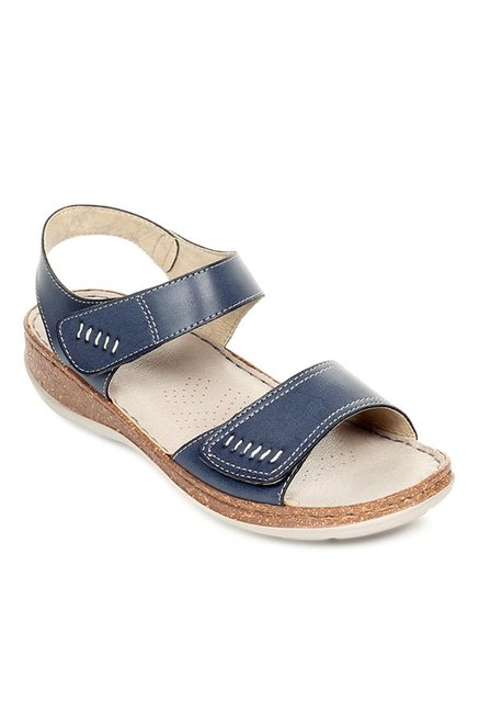 3302ff3670d Buy Pavers England Navy Ankle Strap Wedges for Women at Best Price ...