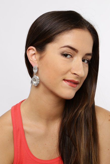 Tipsyfly Silver Alloy Dangle Earrings