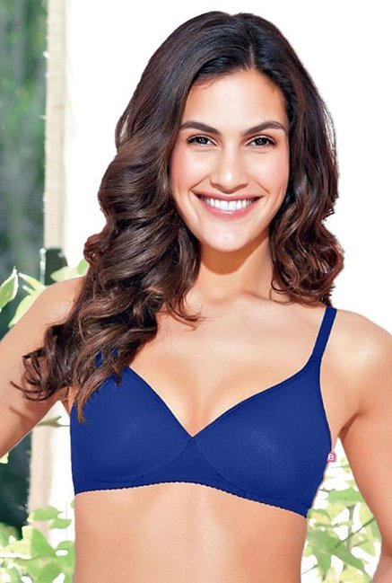 Enamor Blue Non Wired Padded T-Shirt Bra
