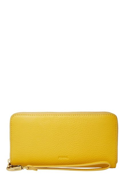 Fossil Mimosa Yellow Solid Leather RFID Wallet