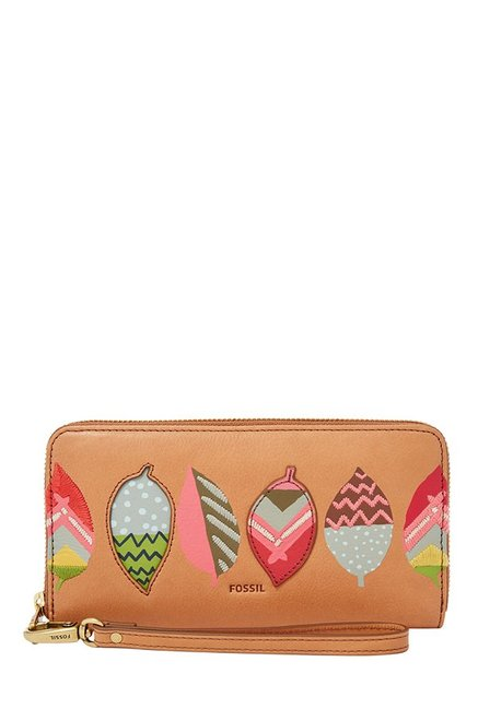 Fossil Tan Applique Leather Wallet