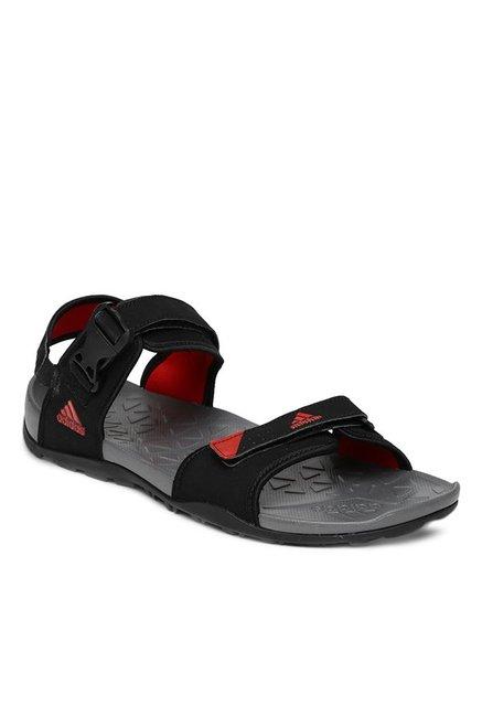 5556bef11ea0 Buy Adidas Hoist Black Floater Sandals for Men at Best Price   Tata CLiQ