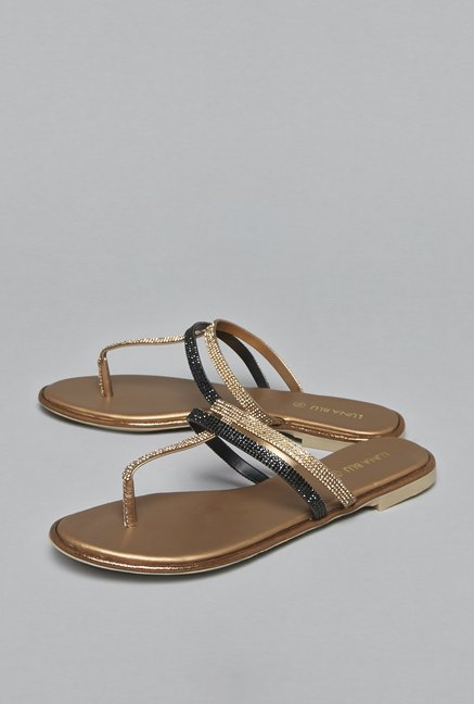 LUNA BLU by Westside Bronze Sandals