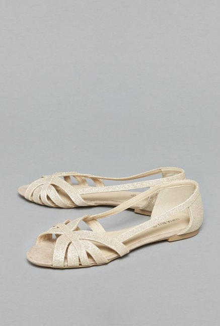 1b8a67988a5f Buy LUNA BLU by Westside Rose Gold Sandals For Women Online At Tata CLiQ