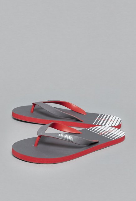 de4e7b6e7f8 Buy SOLEPLAY by Westside Grey Flip-Flops For Men Online At Tata CLiQ