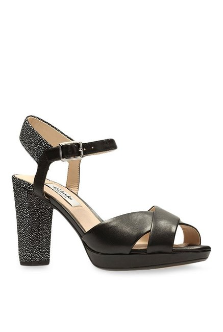 9037f298f9f Buy Clarks Kendra Petal Black Ankle Strap Sandals for Women at Best Price    Tata CLiQ