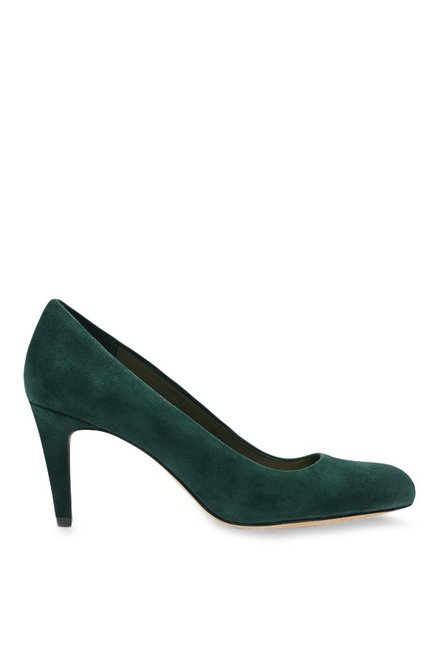 69df15296e97 Buy Clarks Carlita Cove Dark Emerald Stiletto Heeled Pumps for Women at  Best Price   Tata CLiQ