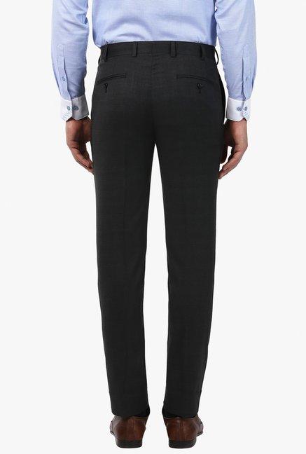55870980ced Buy Raymond Black Mid Rise Slim Fit Trousers for Men Online   Tata CLiQ