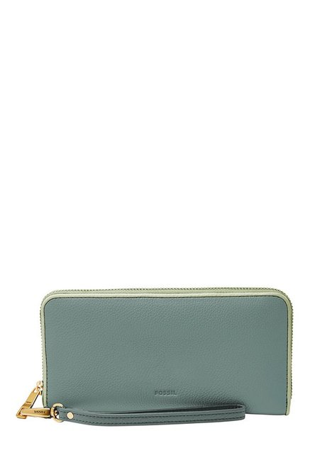Fossil Arctic Mist Solid Leather Wallet
