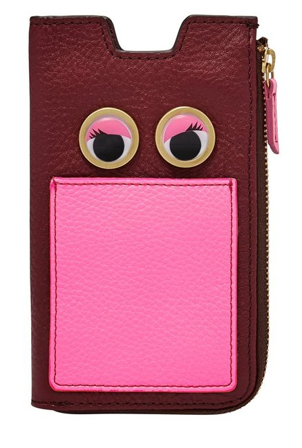 Fossil Maroon Embellished Leather Pouch