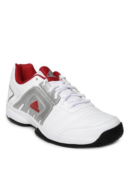 comprare adidas baseliner white & silver in tribunale le scarpe per gli uomini