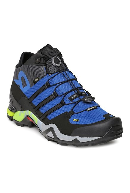5bc7b9af2 Buy Adidas Terrex Fast R Mid GTX Black   Blue Outdoor Shoes for Men at Best  Price   Tata CLiQ