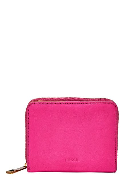 Fossil Emma RFID Hot Pink Solid Leather Wallet