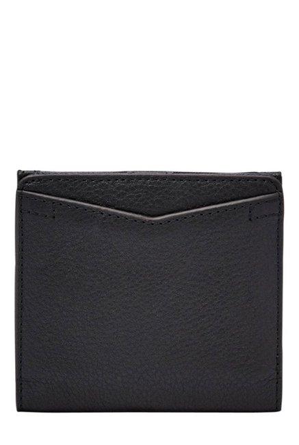 Fossil Caroline RFID Black Solid Leather Wallet