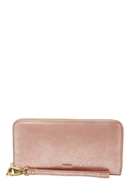 Fossil Pink Blush Solid Leather Wallet