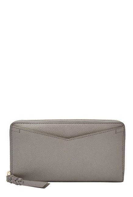 Fossil Caroline RFID Steeple Grey Solid Leather Wallet