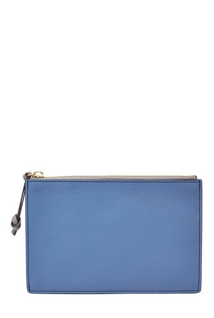 Fossil Cornflower Solid RFID Leather Pouch